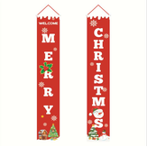 Merry Christmas Porch Banner Christmas Outdoor Decorations for Home Hanging Pendant Christmas Ornament