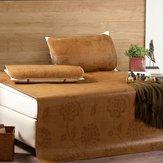 3 Stücke / 1 Satz Natürliche Bambusmatte Matratzen Sommer Schlafen Rattan Kühlung Bettdecke
