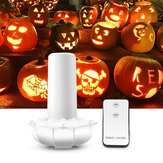 Remote Control Bertenaga Baterai 2 Mode Bunga Teratai 102LED Berkedip-kedip Flameless Halloween Candle Night Light