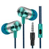 Fone de ouvido estéreo intra-auricular universal de 3,5 mm Fone de ouvido Super Bass Music com microfone para Celulares