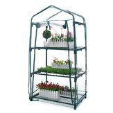 Mini Estufa AUEDW 4 Prateleiras Estufa Interna / Externa com Tampa Com Zíper e Prateleiras de Metal para Cultivo de Vegetais, Flores e Mudas Plantando Crescer Caixa