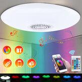 30W E27 Ściemnialny RGBW Głośnik muzyczny bluetooth LED Sufitowa żarówka + 24 klucze Zdalne sterowanie AC110-277V