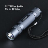 Gray Convoy S2+ SST40 1800lm 5000K 6500K Temperature Protection Management 18650 Flashlight