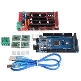 Geekcreit RAMPS 1.4 Control Board  + MEGA2560 R3 + A4988 Driver With Heat Sink 3D Printer Mainboard Kit