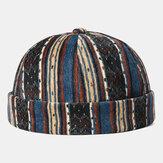 Listra sem brim Caveira do tampão do veludo de algodão Chapéu personalizado multicolorido