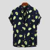 Original              Mens Funny Avocado Printed Casual Shirts