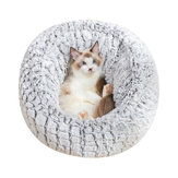 PV Long Plush Super Soft Pet Bed Kennel Dog Cat Comfortable Sleeping Cushion Adjustable