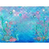 3x5FT 5x7FT Vinyl Mermaid Underwater Sea Star Photography Backdrop Background Studio Prop