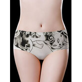 Low Waist Seamless Printed Cotton Crotch Briefs
