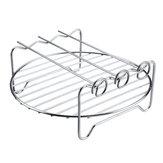 6pcs 9 Inch Non-stick Air Fryer Accessories Set Cake Pizza BBQ Roast Baking Tools For 5.3-6.8QT Air Fryer