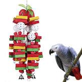 Oiseau à mâcher jouet grand moyen perroquet cage morsure jouets pour ara, gris africain, calopsittes et cacatoès