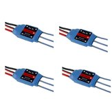4 PCS RW.RC 15A Brushless ESC 5V2A BEC 2S 3S for RC Models Fixed Wing Airplane Drone