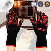 BBQ Grill Gloves Barbecue Silicone Glove Heat Resistant Mitts Smoking Cooking Kitchen