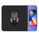 OJD-36 Wireless Fast Charger Charging Mouse Pad Mat for Samsung S10+ HUAWEI and Gaming Mouse
