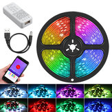 1M 2M 3M 5M bluetooth مراقبة RGB USB WS2812B Addressable LED Strip ضوء KTV Bar Home Stair DC5V