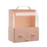 Multifunctionele cosmetische opbergbox met grote capaciteit Desktop make-up organizer Stofdichte opbergtas met deksel en 3 laden