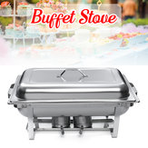 9L A set Buffet Stove of Two Plates Variable heat control Food Warmer Storage Decor Decorations For Wedding Party Canteen