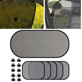 5Pcs Car Window Sun Visor Screen Car Side Rear Window Screen Sunshade Shield Curtain