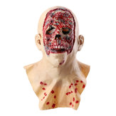Halloween zombie masker latex gezicht smelten Walking Dead Bloody Scary Head Costume