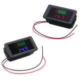Waterproof 12-60V Electric Universal Battery Voltmeter Battery Power Indicator 12V/24V/36V/48V