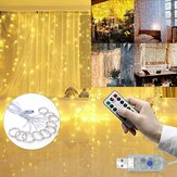 3M*3M Outdoor USB 8 Modes 300LED Curtain String Light Fairy Christmas Lights Wedding Lamp Festival Holiday Decor