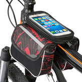 High Capacity 600D Polyester Touch Screen Phones Convenient Bicycle Front Frame Bag Mountain Bike Bag