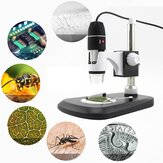 1600X 8 LED Zoom USB Microscopio digitale Microscopio Lente d'ingrandimento fotografica + Supporto video