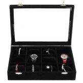 12 siatek Schowek na biżuterię Pudełko do zegarków Aksamitne pudełko do przechowywania zegarków 35 cm * 24 cm * 7 cm