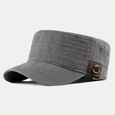 Mens Washed Cotton Flat Hats Outdoor Sunscreen Military Army Peaked Dad Cap