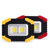 XANES® 20W Luz de acampamento solar USB COB Luz de trabalho Rotação de 180 ° 3 modos Lanterna de aviso de viagem ao ar livre