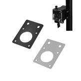 DOIS TREES® NEMA17 42 Motor de passo Placa de montagem de suporte fixo preto / prata para peças de perfil do motor de impressora 3D 2020