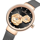 Orologio da polso da donna stile unico NAVIFORCE 5013 con quadrante in rilievo