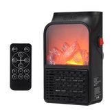 Máy phát điện cầm tay không dây 110 V / 220 V Lò sưởi Quạt lửa Im lặng Mini Máy sưởi ấm không khí với điều khiển từ xa