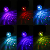 Mini RGB LED Disco Party Light Ball Mobile Phone USB Sound Control Crystal Magic Lamp For Car Hime Christmas