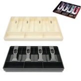 Cash Coin Holder Register Replacement Money Drawer Storage Box With 4 Bill 3 Coin Trays