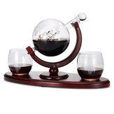 850 ml szklany zestaw karafek do butelek z 2 kubkami do picia herbaty spirytusowej