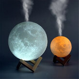 880ML 3D LED Night ضوء Air Humidifier Moon Lamp