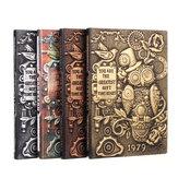 Inicio Diario de regalo Tapa de PU Almohadillas de escritura Tapa dura Viaje Retro en relieve Cuaderno Artesanía Diario Escuela