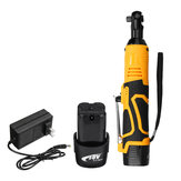10400mah 128V 3/8Inch Electric Wrench Ratchet Wrench Tool W/ 2 Li-ion Battery