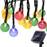 5M Outdoor Solar Powered 20 LED Bulb String Light Garden Holiday Christmas Wedding lamp