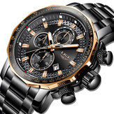 LIGE 9902 Multifunction Chronograph Fashion Men Wrist Watch