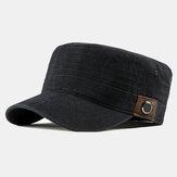 Gewassen katoenen platte hoeden voor heren