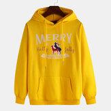 Christmas Merry Pattern Printing Long Sleeve Sweatshirt