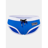 Mens Summer Sexy Bikini Brand Comfort Contrast Color Triangle Briefs Swimming Trunks