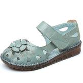Grandes chaussures de couture en cuir pour femmes