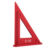 Aluminum Alloy Metric Woodworking Triangle Ruler Carpenters Square Hole Positioning Measuring Ruler