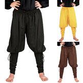 中世ルネッサンスメンズ海賊騎士のズボンレースロングパンツコスプレ衣装