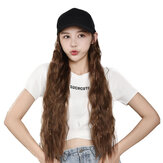 Woman Girl Duck Tongue Cap Wig Hat Light Long Halloween Part
