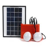 Solar Powered System 3.7V 4400mAh Li-on Battery USB Portable Emergency Light Camping Solar Panel