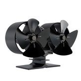 IPRee® 8 Blades Dual Dngines Fireplace Fan Thermal Heat Power Stove Fan Wood Burner Fan Heat Power Fan